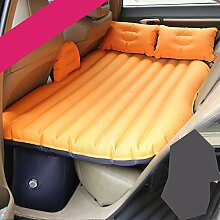 HAOXIAOZI Auto-Reise-aufblasbares Matratze-SUV-Luft-Bett-Rücksitz-Camping-Schlaf-Kissen Mit 2 Kissen,Orange