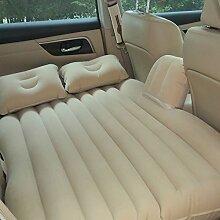 HAOXIAOZI Auto-Rücksitz-Beflockungs-aufblasbares Bett Im Freien Kampierende Reise SUV,Beige