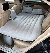 HAOXIAOZI Auto-Rücksitz-Beflockungs-aufblasbares Bett Im Freien Kampierende Reise SUV,Gray