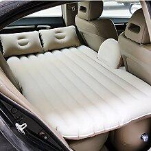 HAOXIAOZI Auto-Rücksitz-Reise-aufblasbares Bett SUV-Luft-Bett,Beige