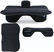 HAOXIAOZI Hinteres Sitz-Auto SUV-Reise-aufblasbares Bett-Beflockungscamping,Black