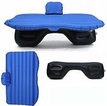 HAOXIAOZI Hinteres Sitz-Auto SUV-Reise-aufblasbares Bett-Beflockungscamping,DarkBlue