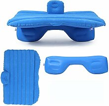 HAOXIAOZI Hinteres Sitz-Auto SUV-Reise-aufblasbares Bett-Beflockungscamping,Blue