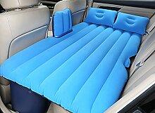 HAOXIAOZI Hinteres Sitz-SUV-Auto-aufblasbares Bett-Reise-Bett-erwachsenes Geteiltes Bett,Blue
