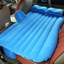 HAOXIAOZI Rear Seat Beflockung Aufblasbares Bett SUV Reisebett Kinder Auto Schlafmatte,Blue