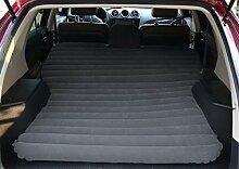 HAOXIAOZI Reisebett Autobett Beflockung Camping Aufblasbares Bett-SUV Rear Seat Sleeping Mat,Black