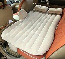 HAOXIAOZI Rücksitz-aufblasbares Bett Das Im Freienreise-Auto-Bett-kampierende Reise Kampiert,Beige