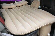 HAOXIAOZI SUV Auto Aufblasbares Bett Beflockung Reise Rear Seat Camping Schlafmatte,Beige