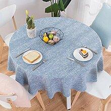 Haoxp Runde Tischdecke einfarbig wasserdicht