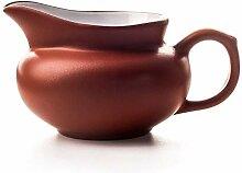 HAOYONGDE Lila Ton Tasse Becher Tee Set Teekanne