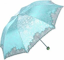 HAOYUXIANG Außen Kreative Faltende Regenschirme Super-UV Sonnenschutz,PhotoColor