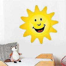 haoziggdeshoop Fototapete Cartoon Smiley Sonne PVC