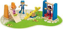 Hape Puppenhaus Spielplatz (Bunt) [Kinderspielzeug]
