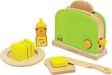 Hape Toaster mit Zubehör aus Holz (Grün)