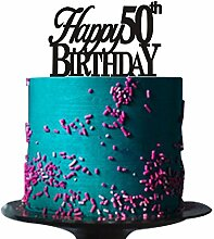 Happy 50th Birthday Cake Topper für 50.