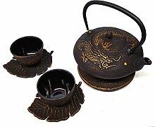 Happy aus Gusseisen Tee-Set Imperial Dragon