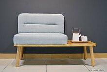 Happy Barok Nord Sitz mit Tabelle, Grau, 125 x 45