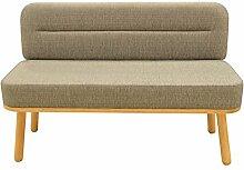 Happy Barok Sofa Nord 2-Sitzer, Grau, 125 x 49 x