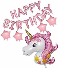 Happy Birthday Einhorn Form Luftballons