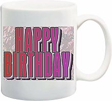 Happy Birthday Mug Cup - 11 Ounces