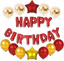 Happy Birthday Set - 25 Teile Konfetti Luftballon