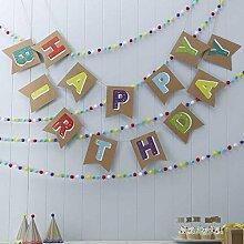 Happy Birthday Vintage Girlande