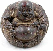 Happy Buddha Bronze (7,5cm) Runde Hotai Figur