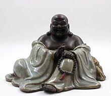 Happy Buddha Figur (15cm) Keramik Porzellan China