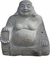 Happy Buddha Figur aus Granitstein