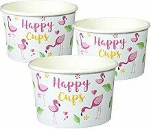 Happy Cups Flamingo Partybecher 50 Stück