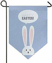 Happy Easter Bunny Hase 30,5 x 47 cm Garten Flagge