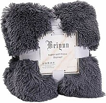 Happy Event Große Weiche warme Shaggy Faux Fur