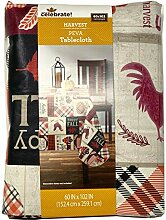 Happy Fall Patchwork PEVA Tischdecke – 152 x 253