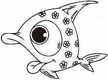 Happy Fish wiederverwendbare Schablone für