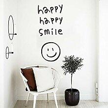 Happy happy smile schwarz englisch brief