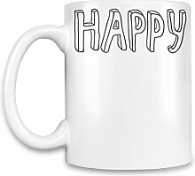 Happy Kaffee Becher