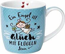 Happy Life 45734 Tee-Tasse Schutzengel, Porzellan,