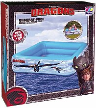 "Happy People Quadrat Pool ""Dragons"", mehrfarbig"