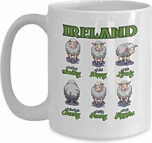 Happy Sheep Mug Ireland Irish Cup - 11 oz Coffee