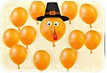 Happy Thanksgiving Türkiye Luftballon-Fußmatte,