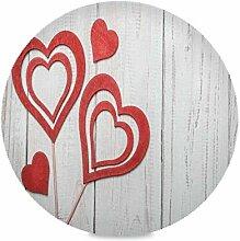 Happy Valentine's Day Runde Tischsets für