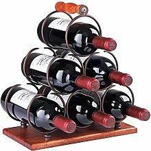 HappybeeYo Tragbares Weinregal aus Metall,