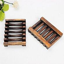 Happyshop Moderne Seifenschale aus Bambus für