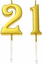 Happyyami 21. Geburtstag Glitter Kuchen Dessert
