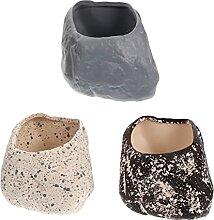 Happyyami 3Pcs Keramik Sukkulenten Topf Pflanzer