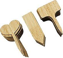 Happyyami 60Pcs Anlage Etiketten Holz Garten