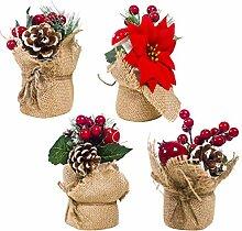 Happyyami Topfpflanze Tannenzapfen Dekoration mit