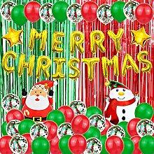 Hapyshop 52pcs Weihnachten Partei Dekor, Merry