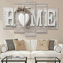 Hardear Holz Home Brief druckt Foto Gemälde