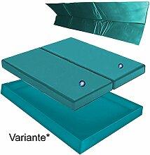 Hardside Wasserbetten Wasserkern Wasserbettmatratze Wasserbett Matratze DUAL DUO + Sicherheitswanne Auslaufwanne Wanne Standup Liner + Thermo Trennwand Thermotrennwand 180 x 200 cm (200 x 220 cm F0 + F0)